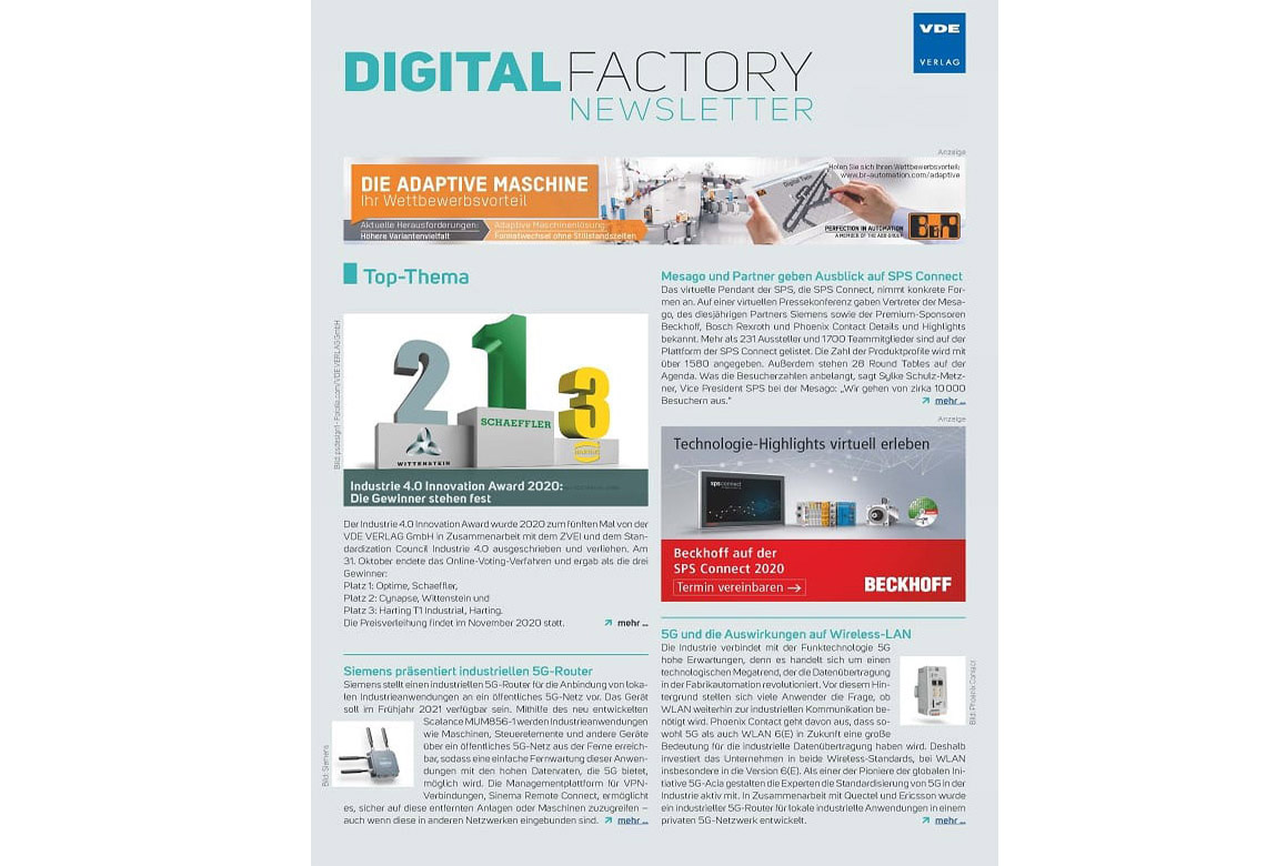 Digital Factory Journal Newsletter